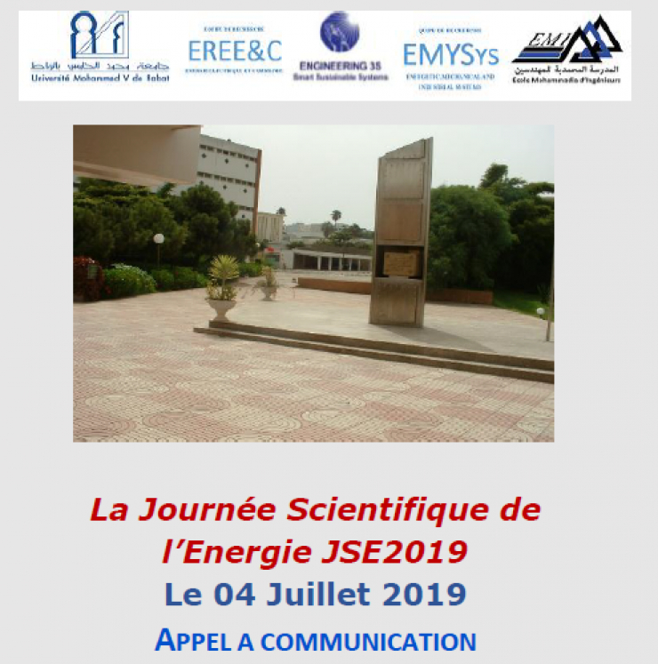 APPEL A COMMUNICATION : Journée Scientifique de l'Energie -JSE2019-
