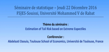 Séminaire : « Estimation of Tail Risk based on Extreme Expectiles »
